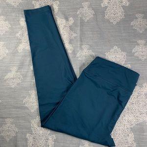 Teal athletic leggings by 90 degrees